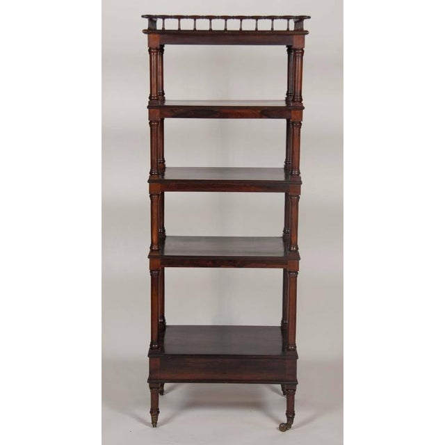 William IV Rosewood Whatnot/ Etagere For Sale - Image 9 of 10