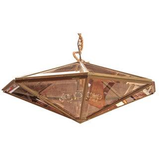 Italian Cut Glass Jewel-Like Oversized Chandelier For Sale