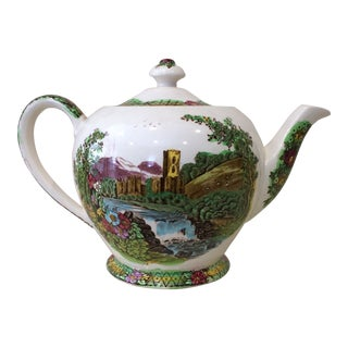 "Sadler Teapot Made in England ""The Abbey Falls"" For Sale"