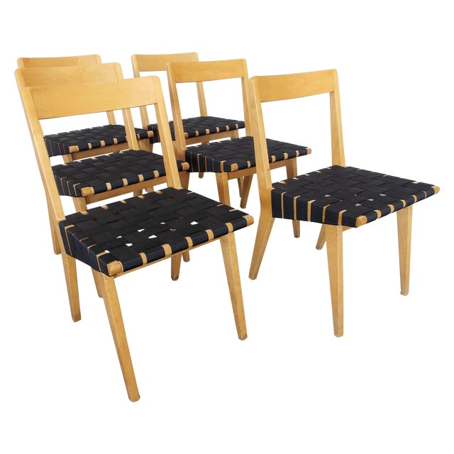 Jens Risom Side Chairs for Knoll - Set of 6 - Image 1 of 8