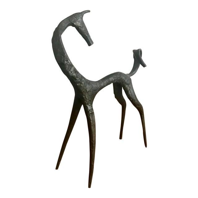 Mid Century Sculpture Modernist Iron Horse Figure For Sale
