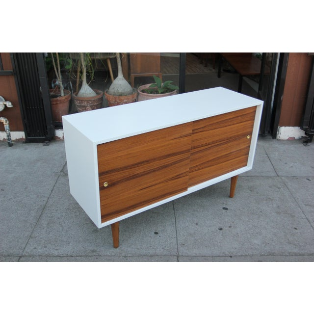 Not Yet Made - Made To Order While Lacquered Credenza For Sale - Image 5 of 13