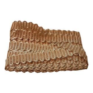 Vintage Metallic Gold Gilt Color 1.75 Wide Border Trim -36 Yards For Sale