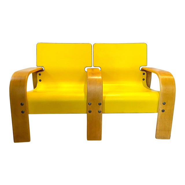 1960s Italian Modern Double Seat Bench For Sale