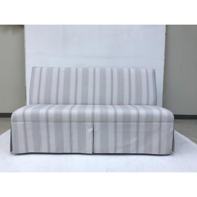 2010s Century Furniture Skirted Armless Banquette For Sale - Image 5 of 5