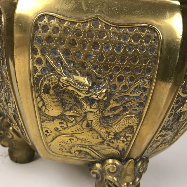 Japanese Brass Planter For Sale - Image 4 of 10