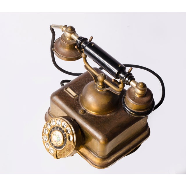 European Style Mid-Century Phone For Sale - Image 4 of 5