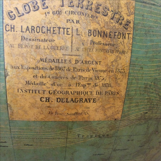 19th C. French Globe Terrestre - Image 3 of 11