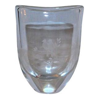 Vintage Orrefors Lovebirds Vase For Sale