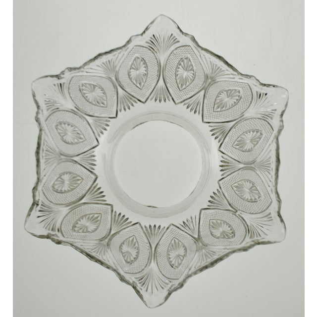 Traditional Victorian Style Pressed Glass Gas Light Shade For Sale - Image 3 of 13