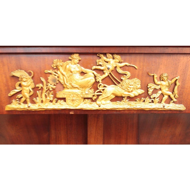 19th Century Biedermeier Bibliotheque of Figured Mahogany For Sale In Dallas - Image 6 of 10