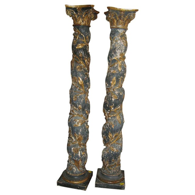 Pair of 17th Century Columns For Sale - Image 12 of 12