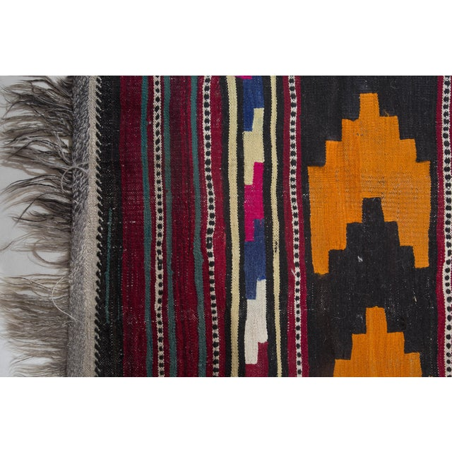 "Turkish Kilim Flat-Weave Runner Rug - 6'2"" x 14' - Image 2 of 8"