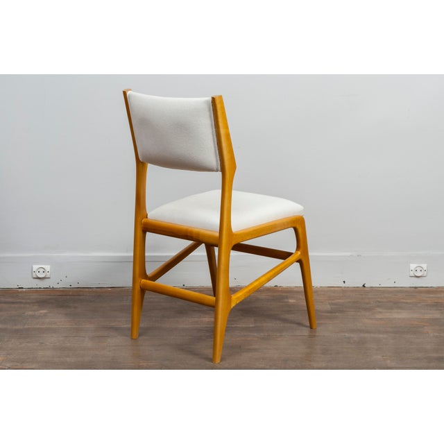 1950s Set of 12 Gio Ponti Ash Chairs, Model 687, Italy, 1953 For Sale - Image 5 of 9