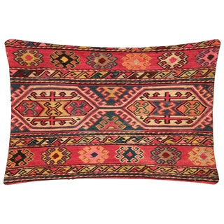 "Nalbandian - 1960s Turkish Kilim Pillow - 16"" X 19"" For Sale"