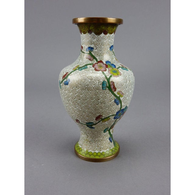 Antique Chinese Cloisonne Vase For Sale - Image 4 of 11