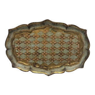 Early 20th Century Florentine Giltwood Tray For Sale