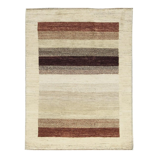 Contemporary Hand Woven Rug - 4'2 X 5'7 For Sale