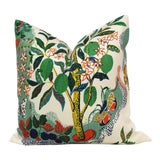 "Image of 20"" x 20"" Citrus Garden With Lime Tree Decorative Pillow Cover For Sale"