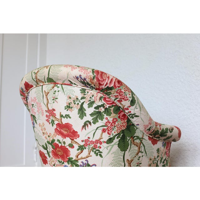 Napoleon III Style Floral Boudoir Chair With Bullion Fringe For Sale In New Orleans - Image 6 of 12