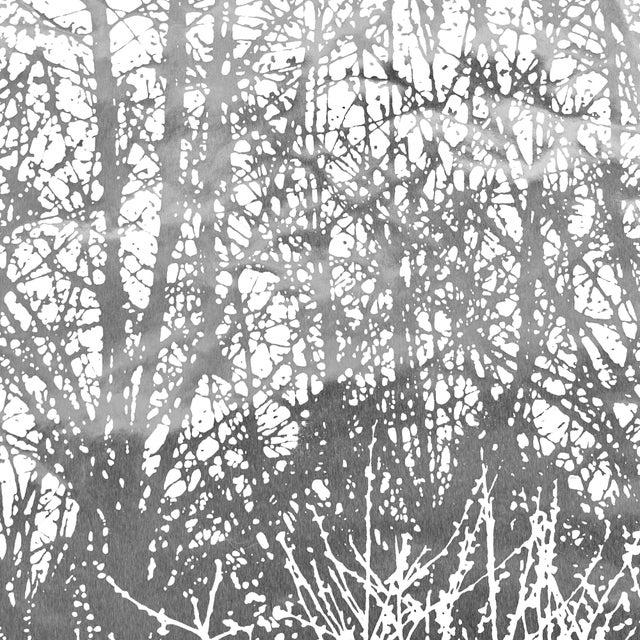 Contemporary Schumacher x Vera Neumann Birches Wallpaper in Silver (9 Yards) For Sale - Image 3 of 5