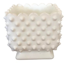 Image of Milk Glass Planters
