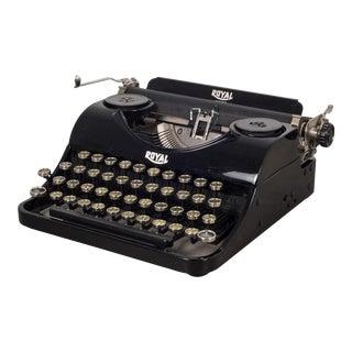 Antique Depression Era Royal Junior Typewriter and Original Case C. 1935 For Sale