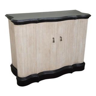 Hollywood Regency Style Black & White 2 Door Cabinet Server