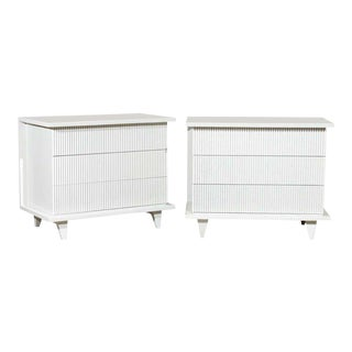 Restored Pair of Rare Modern Chests by American of Martinsville For Sale