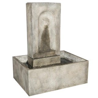 Lion Fountain Basin in Cast Cement For Sale