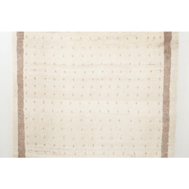 Cream Persian Gabbeh Rug | Majid-3′5″ × 5′4″ For Sale - Image 8 of 9