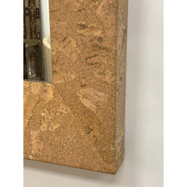 Mid-Century Modern Square Cork Mirror For Sale - Image 4 of 6