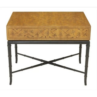 Kittinger Thistle Incised Faux Bamboo Side Table Preview
