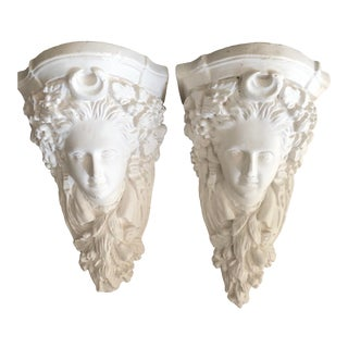Italian Plaster Corbels, Pair For Sale