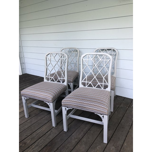 Chippendale Hickory Furniture Linwood Chippendale Chairs- Set of 4 For Sale - Image 3 of 11