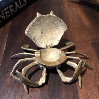 Vintage Nautical Solid Brass Articulated Crab Ashtray Preview