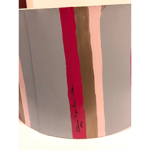 Hand Painted Custom Modern Lampshade For Sale - Image 10 of 12