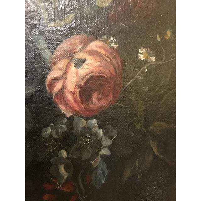 19th Century Oil on Canvas Still Life Signed with Label in an Ebony & Gilt Frame For Sale - Image 10 of 10