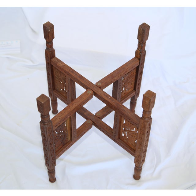 Asian 1960s Indian Tray Table For Sale - Image 3 of 6