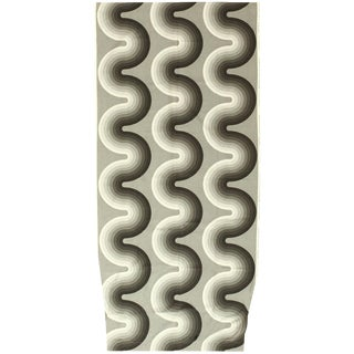 Vintage Mid-Century Kurve Verner Panton Textile Rug - 4′1″ × 8′6″ For Sale