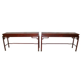 Chinoiserie Console Tables - a Pair For Sale