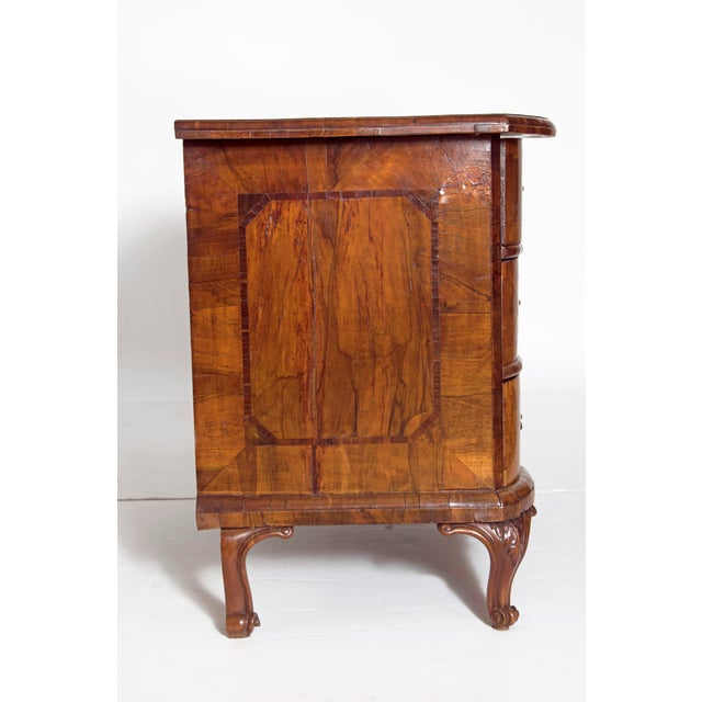 Brown Mid-18th Century Baroque Walnut Three Drawer Chest For Sale - Image 8 of 13