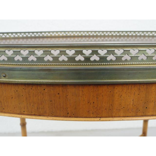 20th Century Chinoiserie Holland Salley Baker Furniture End Table For Sale - Image 10 of 13