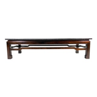 Vintage Modern Asian/Chinoiserie Style Marble Top Coffee Table For Sale
