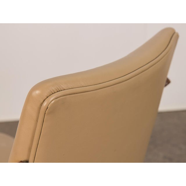 Swedish Armless Sculpted Lounge Chair For Sale In New York - Image 6 of 10