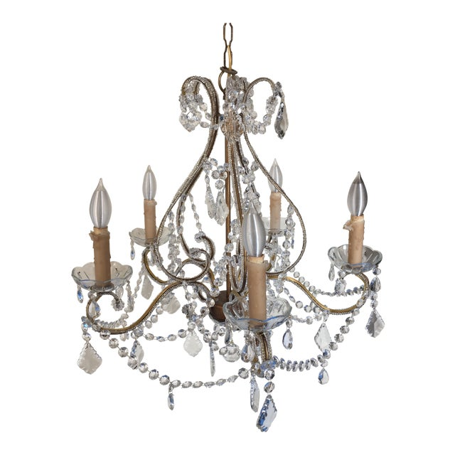 Schonbek Style Crystal Chandelier For Sale