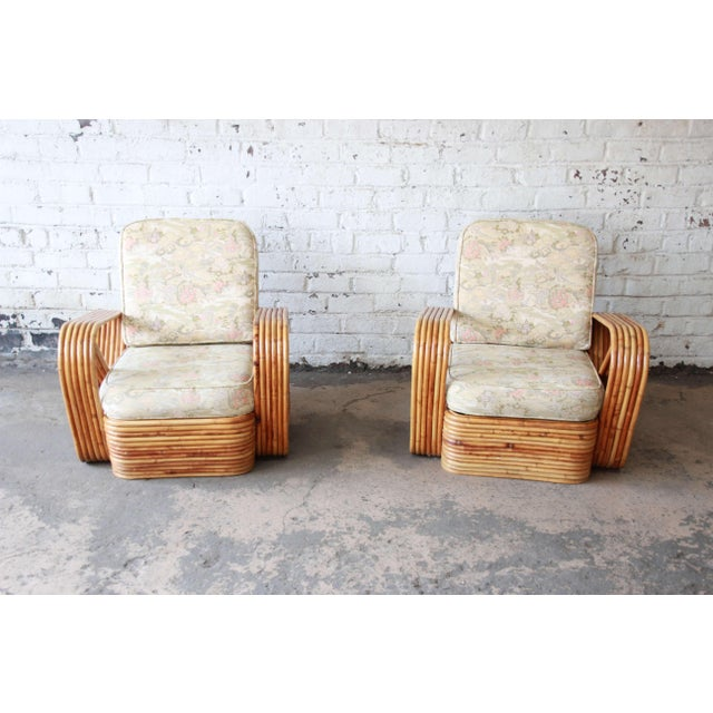 Paul Frankl Bamboo Pretzel Chairs Attributed to Paul Frankl - A Pair For Sale - Image 4 of 10