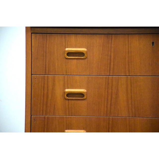 Modern Teak Drum Roll Secretary Desk For Sale - Image 10 of 13