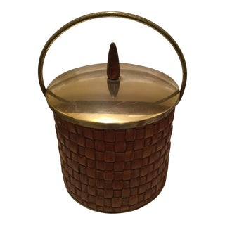Woven Vintage Ice Bucket For Sale