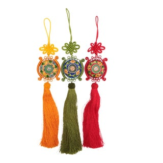 Cloisonné Tassel Ornaments, Set of 3 For Sale